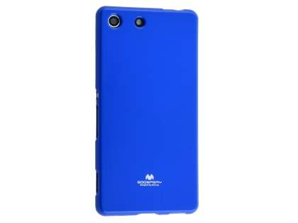 Mercury Goospery Glossy Gel Case for Sony Xperia M5 - Blue Soft Cover