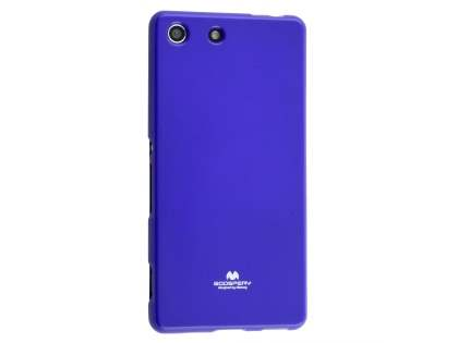 Mercury Goospery Glossy Gel Case for Sony Xperia M5 - Purple Soft Cover