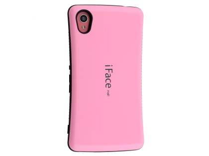 iFace Dual-Design Case for Sony Xperia M4 Aqua - Baby Pink/Black Dual-Design Case