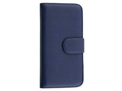 Synthetic Leather Wallet Case with Stand for iPhone 6s/6 - Dark Blue