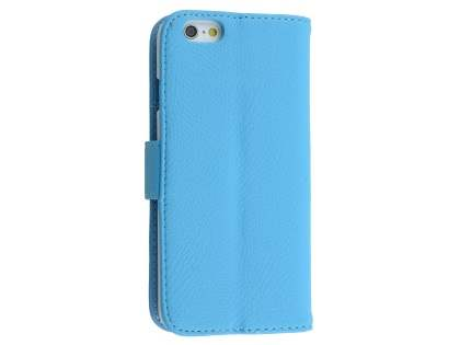 Synthetic Leather Wallet Case with Stand for iPhone 6s Plus / 6 Plus - Sky Blue