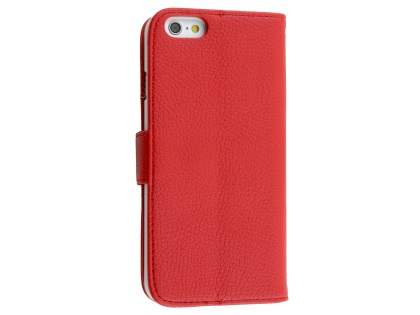 Synthetic Leather Wallet Case with Stand for iPhone 6s Plus / 6 Plus - Red