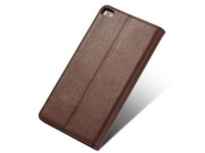 Premium Leather Smart View Case for Huawei P8 - Brown