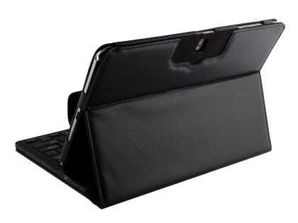 Samsung Galaxy Note Pro 12.2 Synthetic Leather Bluetooth Keyboard Case - Black