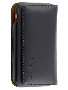 Synthetic Leather Belt Pouch for Samsung - Classic Black Belt Pouch