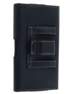Synthetic Leather Belt Pouch for Samsung - Classic Black