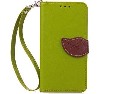 Slim Synthetic Leather Wallet Case with Stand for HTC Desire 520 - Green/Brown Leather Wallet Case
