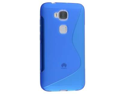 Wave Case for Huawei G8 - Frosted Blue/Blue Soft Cover