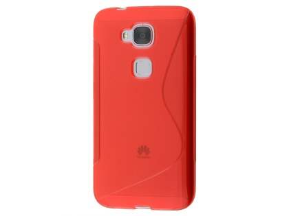 Wave Case for Huawei G8 - Frosted Red/Red Soft Cover