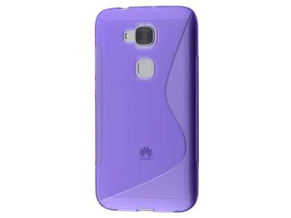Wave Case for Huawei G8 - Frosted Purple/Purple Soft Cover