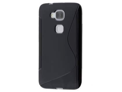 Wave Case for Huawei G8 - Frosted Black/Black Soft Cover