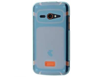 Frosted TPU Case for Telstra Tough Max - T84 - Blue Soft Cover