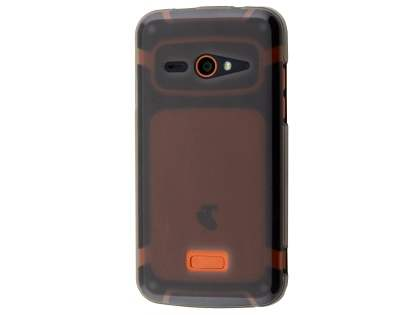 Frosted TPU Case for ZTE Telstra Tough Max - Grey Soft Cover