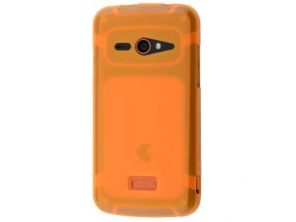 Frosted TPU Case for Telstra Tough Max - T84 - Orange Soft Cover