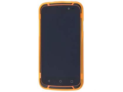 Frosted TPU Case for ZTE Telstra Tough Max - Orange