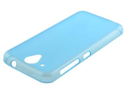 Frosted Colour TPU Case for HTC Desire 520 - Blue Soft Cover