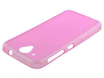 Frosted Colour TPU Case for HTC Desire 520 - Pink Soft Cover