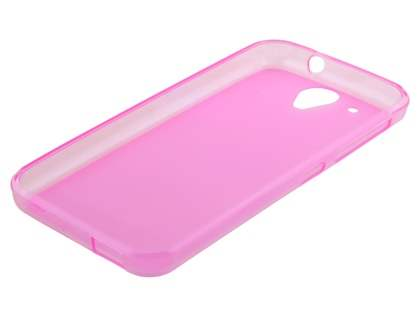 Frosted Colour TPU Case for HTC Desire 520 - Pink
