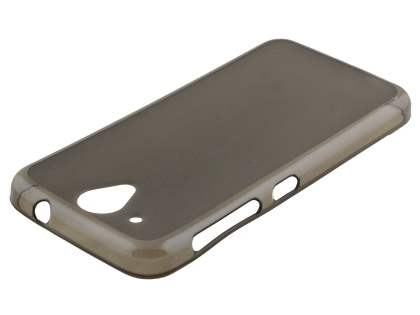 Frosted Colour TPU Case for HTC Desire 520 - Grey Soft Cover