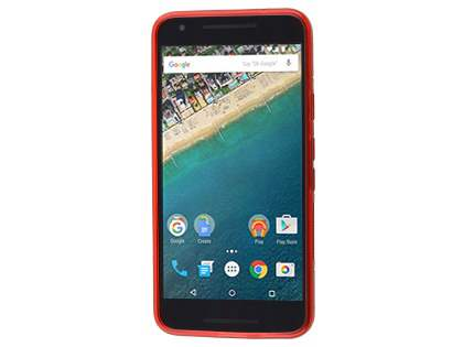 Wave Case for LG Nexus 5X - Frosted Red/Red
