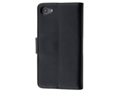 Slim Synthetic Leather Wallet Case with Stand for Sony Xperia Z5 Compact - Classic Black