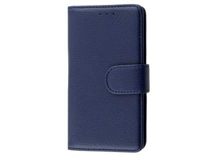 Slim Synthetic Leather Wallet Case with Stand for Sony Xperia Z5 Compact - Dark Blue Leather Wallet Case