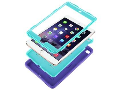 Impact Case for iPad Mini 4 - Purple/Mint