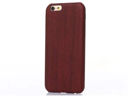 Wood Pattern Soft TPU Case for iPhone 6s Plus/6 Plus - Mahogany