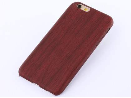 Wood Pattern Soft TPU Case for iPhone 6s Plus / 6 Plus - Mahogany