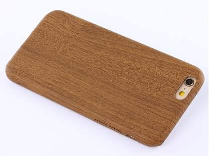 Wood Pattern Soft TPU Case for iPhone 6s Plus / 6 Plus - Walnut