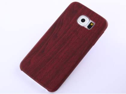Wood Pattern Soft TPU Case for Samsung Galaxy S6 - Mahogany