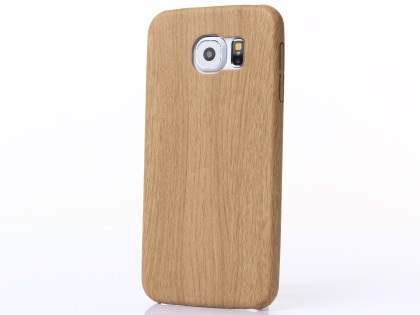 Wood Pattern Soft TPU Case for Samsung Galaxy S6 - Oak Soft Cover