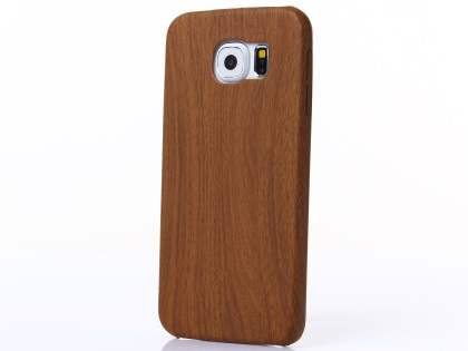 Wood Pattern Soft TPU Case for Samsung Galaxy S6 - Walnut Soft Cover