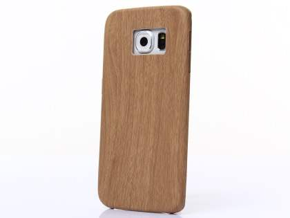 Wood Pattern Soft TPU Case for Samsung Galaxy S6 Edge - Oak