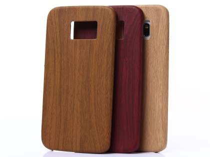 Wood Pattern Soft TPU Case for Samsung Galaxy S6 Edge - Walnut