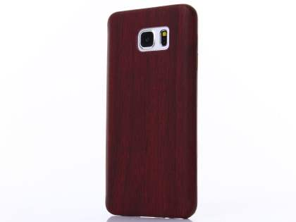 Wood Pattern Soft TPU Case for Samsung Galaxy Note 5 - Mahogany Soft Cover