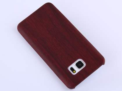 Wood Pattern Soft TPU Case for Samsung Galaxy Note 5 - Mahogany