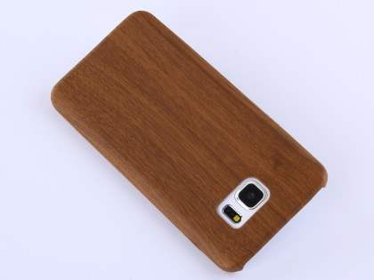Wood Pattern Soft TPU Case for Samsung Galaxy Note 5 - Walnut