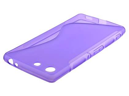 Wave Case for Sony Xperia M5 - Frosted Purple