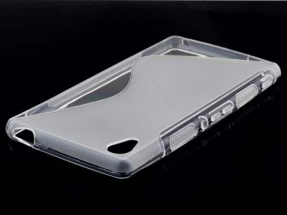 Sony Xperia M4 Aqua Wave Case - Frosted Clear/Clear