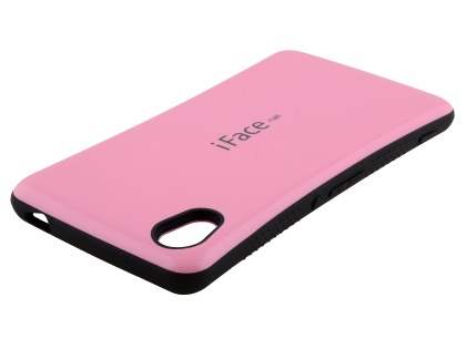 iFace Dual-Design Case for Sony Xperia M4 Aqua - Baby Pink/Black