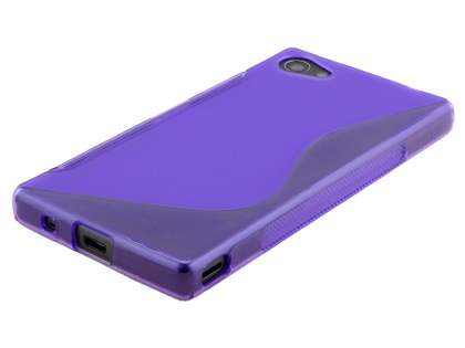 Wave Case for Sony Xperia Z5 Compact - Frosted Purple/Purple