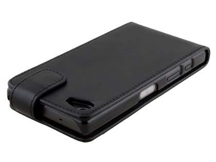 Synthetic Leather Flip Case for Sony Xperia Z5 Compact - Classic Black