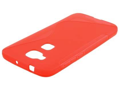 Wave Case for Huawei G8 - Frosted Red/Red