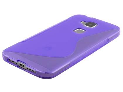 Wave Case for Huawei G8 - Frosted Purple/Purple