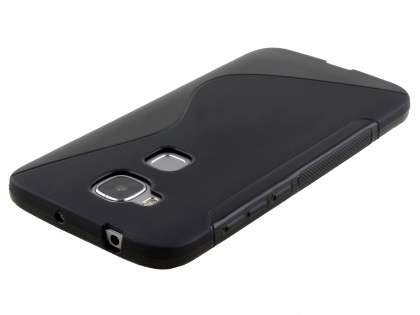 Wave Case for Huawei G8 - Frosted Black/Black