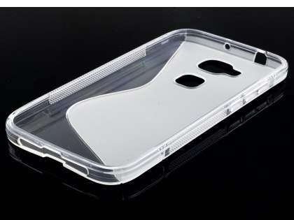 Wave Case for Huawei G8 - Frosted Clear/Clear