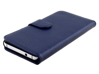Synthetic Leather Wallet Case with Stand for Huawei Nexus 6P - Dark Blue