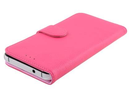 Synthetic Leather Wallet Case with Stand for Huawei Nexus 6P - Hot Pink