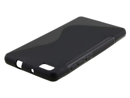 Wave Case for Huawei P8Lite - Frosted Black/Black